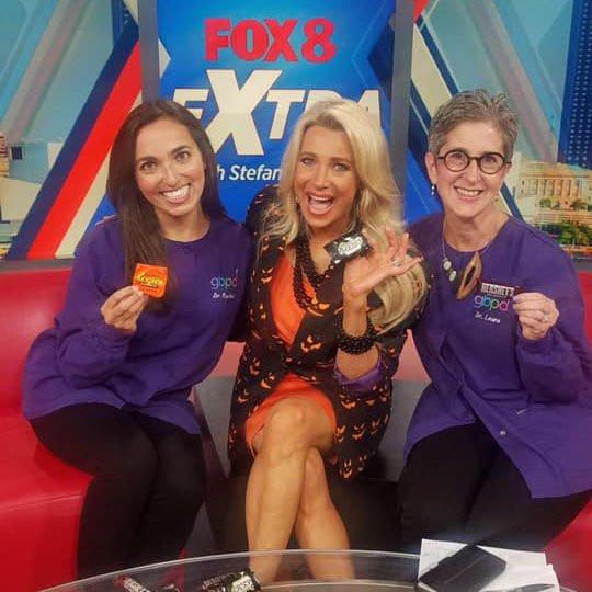 Pediatric dentists Rachel Rosen and Laura Adelman on Cleveland Fox 8 News
