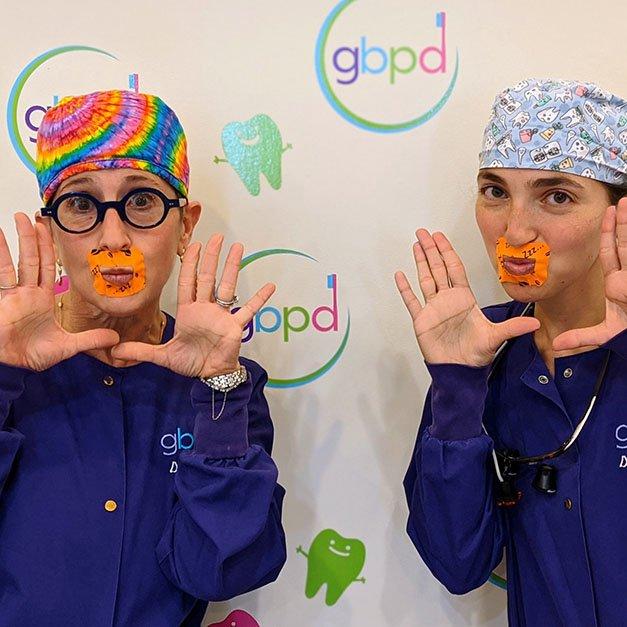 Rachel Rosen DDS and Laura Adelman DMD show lip tap airway dentistry tool