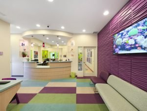 Twinsburg pediatric dental office reception area Great Beginnings Pediatric Dentistry